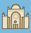 jewish synagogue icon hand drawn style vector image vector image