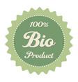 label bio food vector image