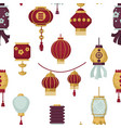 lanterns eastern and oriental style seamless vector image vector image