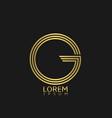 letter g emblem vector image
