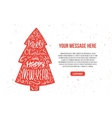 Lettering Christmas tree vector image vector image