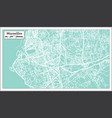 marseille france city map in retro style outline vector image vector image