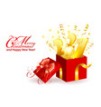 merry christmas and new year card vector image