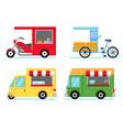 mobile street food shop vector image