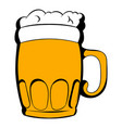 Mug of beer icon cartoon