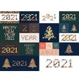 new year diverse unusual sign set for 2021 event vector image vector image