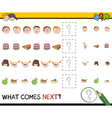 pattern activity for children vector image vector image