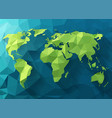 polygonal world map low poly design origami vector image vector image