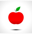 red apple icon isolated on white background vector image