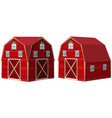 red barn in 3d design vector image