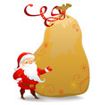 Santa Claus with huge sack vector image