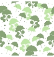 Seamless pattern branches and leaves of ginkgo vector image