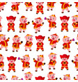 seamless pattern with little pink pigs vector image vector image