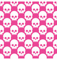 seamless pattern with skulls on a rose quartz vector image
