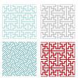 seamless vintage geometric puzzle pattern