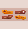 set of elegant tape or ribbon banners with vector image vector image