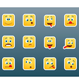 Set of emoticon smile stickers vector image vector image