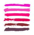set of magenta watercolor stripes vector image