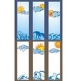 Set of Sun banners vector image vector image