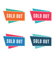sold out banner vector image vector image