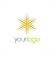 star shine logo vector image vector image