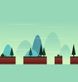 style game background with landscape cartoon