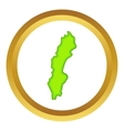 Sweden map icon vector image