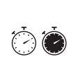 timer icon set flat style vector image
