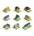 town houses set vector image vector image