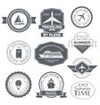 Travel set label template of emblem element for vector image vector image