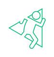 triangle shape marathon run outline sport figure vector image