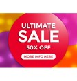 Ultimate sale banner design vector image vector image