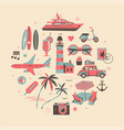 vacation or holiday themed design element in four vector image