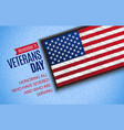 veterans day banner vector image
