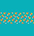 Wide horizontal candy corn seamless pattern