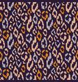 wild animal spotted texture dark purple and orange vector image