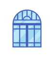 window with blue frame on white background vector image vector image