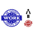 worker person textured icon and stamps vector image vector image