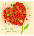 Floral decorative background with poppies EPS10 vector image