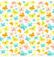 butterfly seamless pattern background vector image