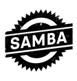 Famous dance style samba stamp vector image
