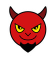 icon of red devil vector image