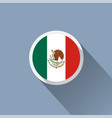 flag of mexico mexican round flat button vector image