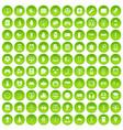 100 app icons set green circle vector image vector image