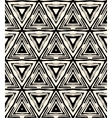 1930s art deco geometric pattern with triangles vector image