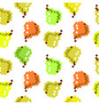 8 bit pixel seamless fruit pattern cute pattern vector image