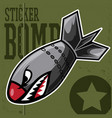 air bomb flying tiger shark mouth sticker vinyl