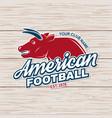 american football or rugby club badge