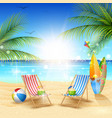 beautiful summer beach background vector image vector image