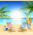 beautiful summer beach background vector image
